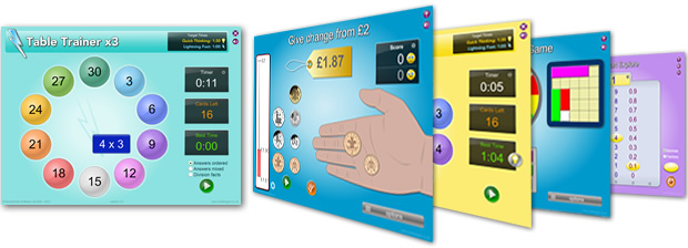 NumberGym Software example screenshots